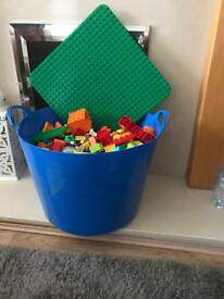 Large tub of Lego Duplo