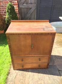 Hardwood dresser/cabinet