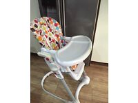 Rest & play, colourful, high chair