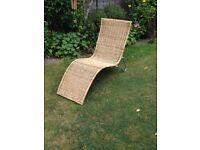Rattan garden lounger