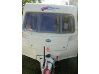 2008 Bailey Pageant Champagne 4 Berth Touring Caravan With Dinette, Rear Washroom And Motor Mover!!!