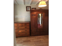 Edwardian Wardrobe and Chest of Drawers