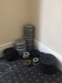Bench, weights