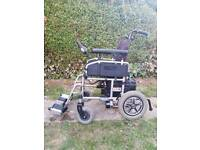 Pride LX 11 electric wheelchair, powerchair, power chair, foldable for transport