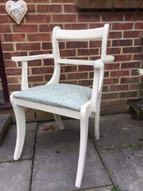 Lovely Regency Bedroom Chair painted in Antique White & reupholstered in any fabric