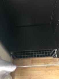 Large mirrored black wardrobe