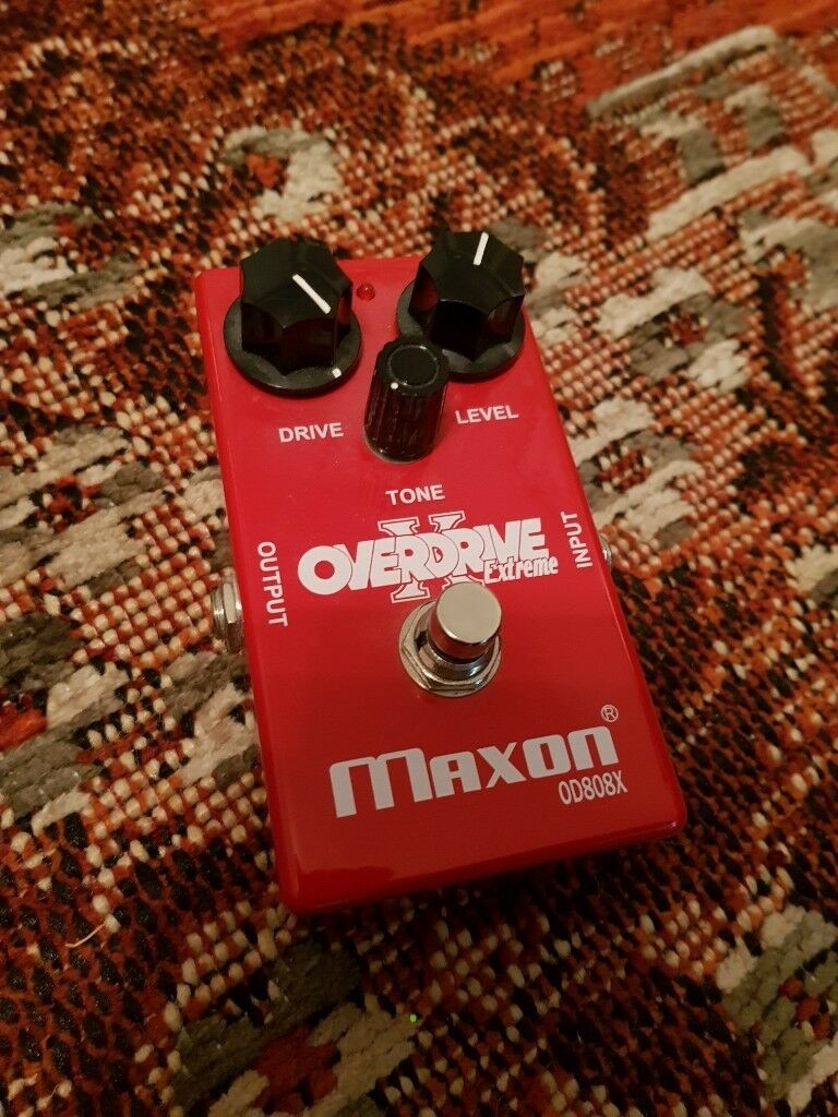 Maxon OD808X - overdrive/distortion, more grit than an OD808, TS808 or TS9 Ibanez Tube Screamer