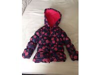 LITTLE GIRLS NAVY PADDED COAT SIZE 3-4