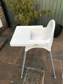 Ikea Antilop highchair with tray.