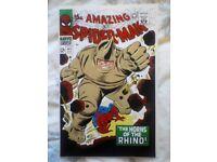 Amazing Spiderman 41 reprint. 1st app of Rhino