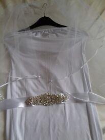 Brand new ivory or white wedding dresses