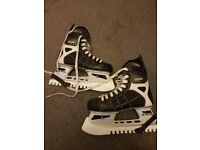 Size 4 ice skates. Worn but in good condition.