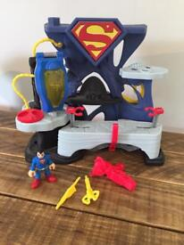 Imaginext superman Playset with accessoriea