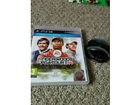 Ps3 Tiger Woods 2014 and charging dock