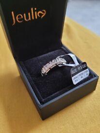 Jeulia sterling silver men ring