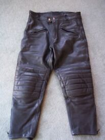 """JTS Leather Motorcycle Trousers 36"""" short"""