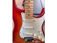 Fender American Deluxe Ash Strat 2010 Model Maple Neck in Aged Cherry Burst