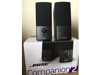 Bose Companion 2 Speakers - Black, Perfect condition 6 months old