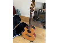 Left Handed Takamine 12 String Guitar EAN40C-12LH