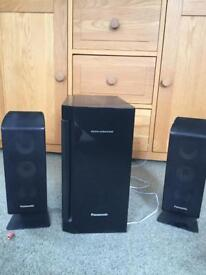 Panasonic speakers for surround sound and Kelton subwoofer