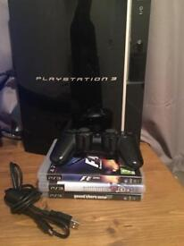 80gb ps3 console and games