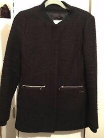 Bershka Size M Black Coat for £25 (Original: £59)
