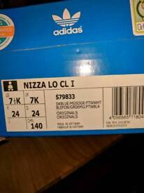 Boys Adidas Nizza, size 7