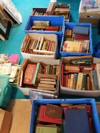 7 Boxes of old Books and Maps