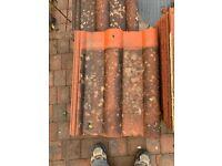 50 Concrete Redland New Roman roofing tiles (used)