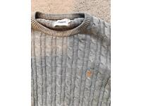 Farah cable knit labe
