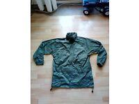 Wynnster waterproof coat/jacket army surplus cadet with hood - olive, large (L)