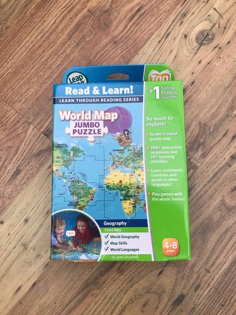 Never Used - Leapfrog World Map Jumbo Puzzle