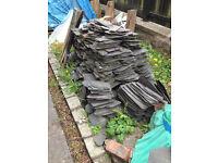 Large pile of Victorian, Scottish roof slates