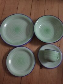 Spinwash green dinner set - new!!