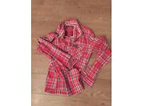 Men's superdry check shirt XL