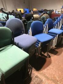 Green Stackable Chairs