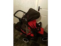 Phil and Teds Dot Double Buggy with footmuff and rain cover