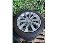 "Subaru 17"" alloys + tyres"