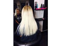 Hair extensions in salon / Nano rings / Micro rings / Fusion bonds