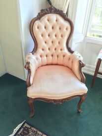 Lovely chair for sale. Pick up only.
