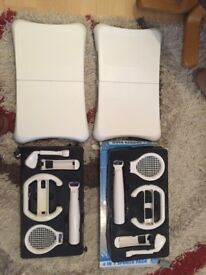 Wii fit boards x 2 .. wii 4 in 1 sports pack x 2 £15.00