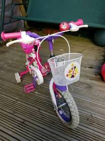 Girl's Minnie Mouse Bike