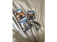 Black ops3, battle field hardline, uncharted 4 and PS4 camo controller