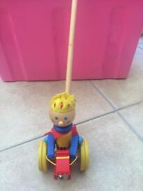 Wooden push a long toy