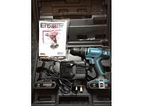 Erbauer drill ER1603COM charger and 2 lithium ion batteries