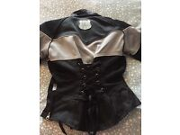 Ladies Motorbike jacket . Size 8 . Great style and design. Inner can be removed in the summer