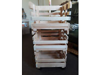 New Fruits Stackable Solid Pine Storage Crate