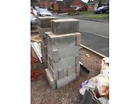 Concrete blocks used