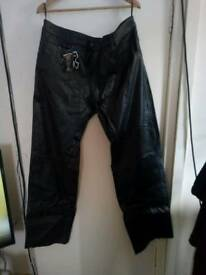 Leather bike jeans 44/Long