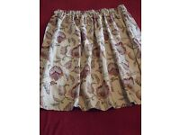 2. Country Cottage Style Curtains Fully Lined (2 pairs)